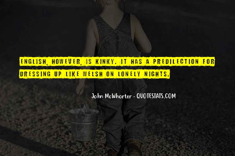 Quotes About Lonely Nights #1430386