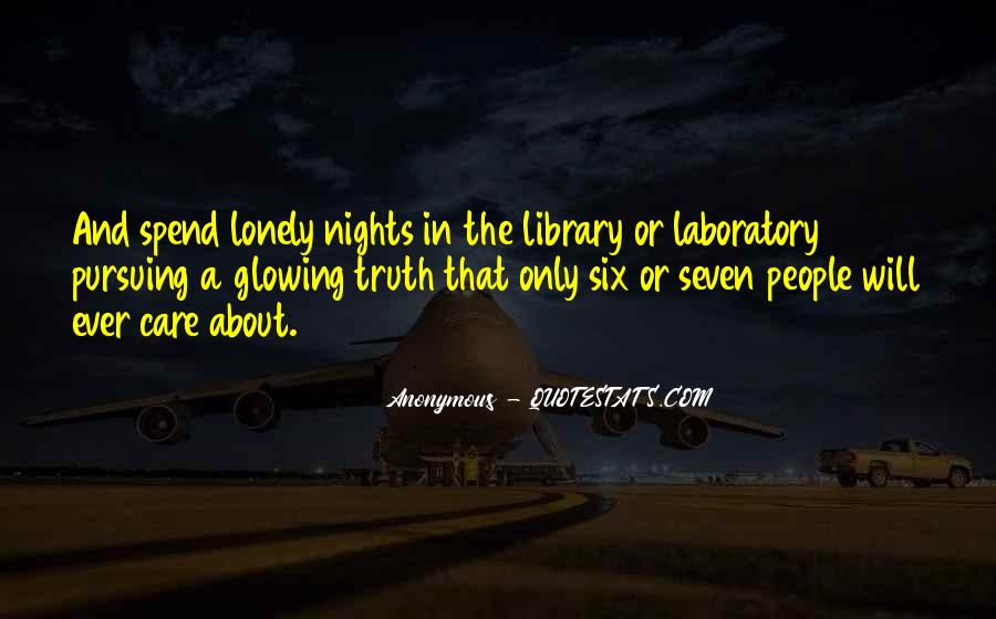 Quotes About Lonely Nights #785592