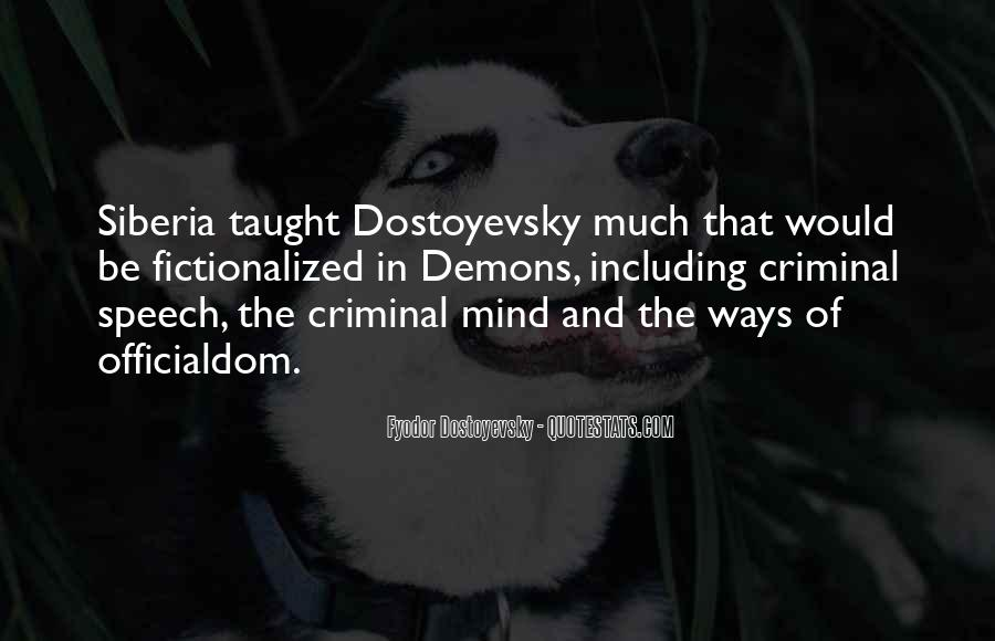 Quotes About The Mind Of A Criminal #1567104