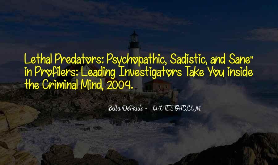 Quotes About The Mind Of A Criminal #290891