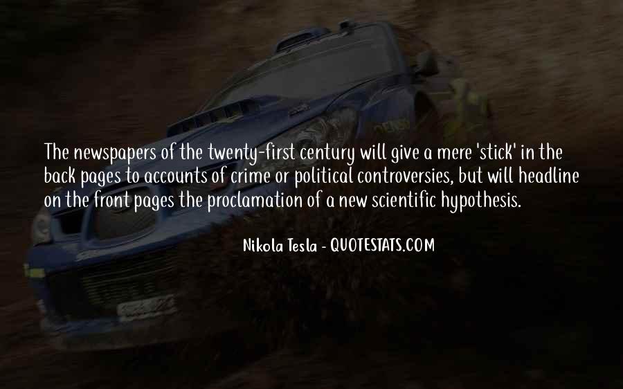 Quotes About Scientific Hypothesis #1106759