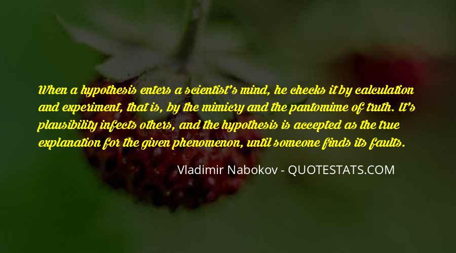 Quotes About Scientific Hypothesis #121764