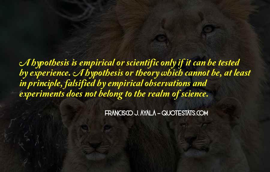 Quotes About Scientific Hypothesis #1331478