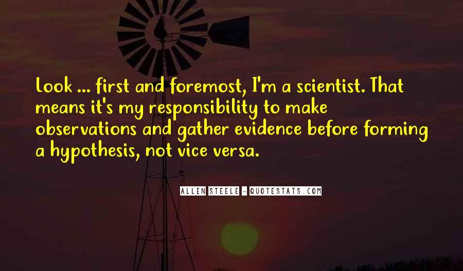 Quotes About Scientific Hypothesis #1456656