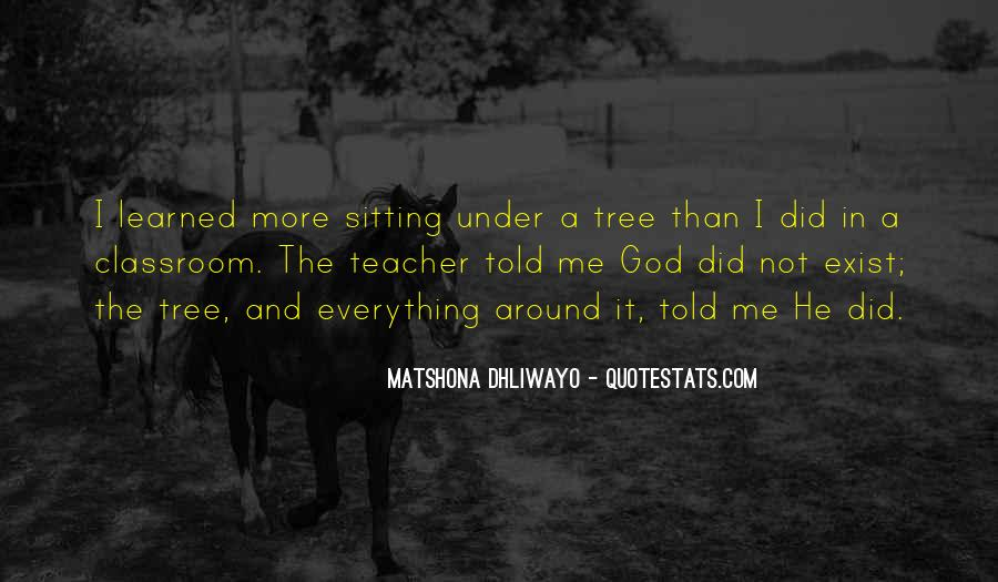 Quotes About Sitting Under A Tree #1518705