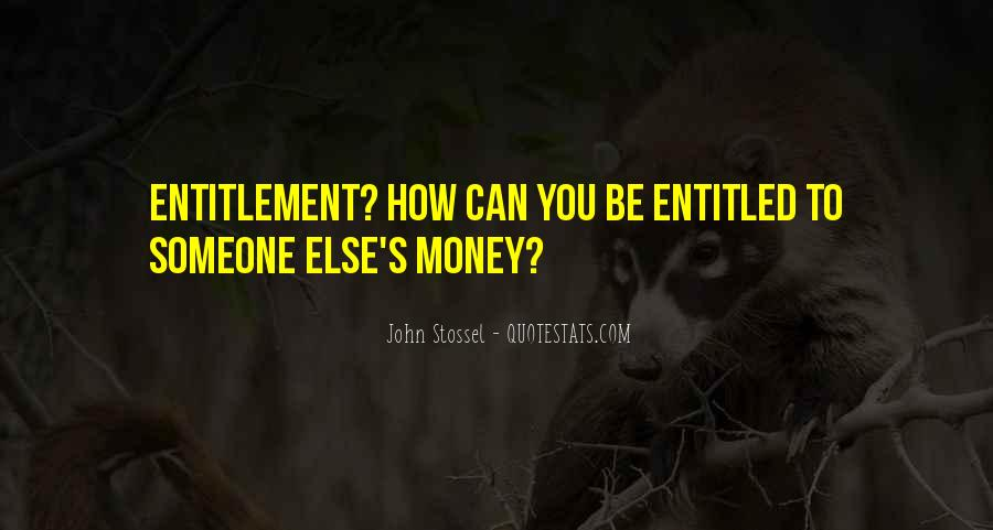 Quotes About Entitlement #573992