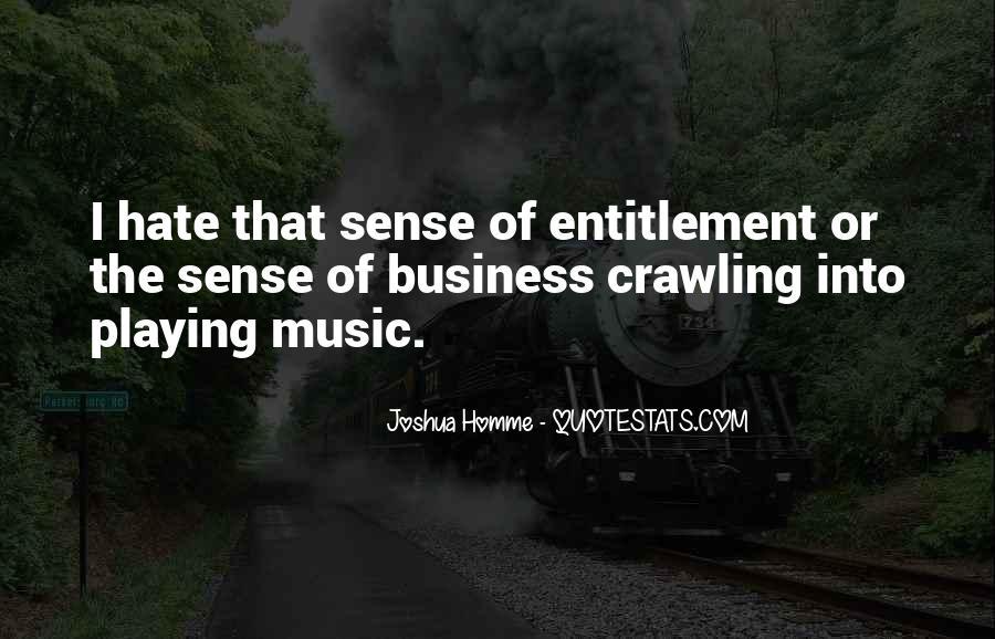 Quotes About Entitlement #609127