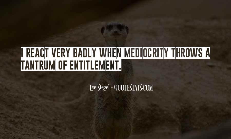 Quotes About Entitlement #615509