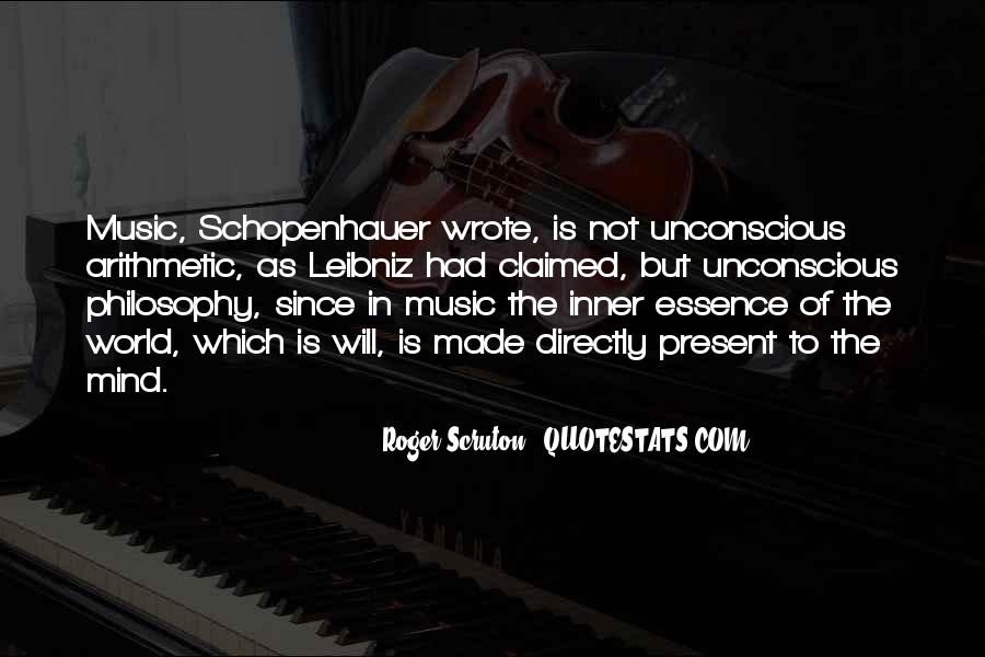 Quotes About Schopenhauer Music #27128