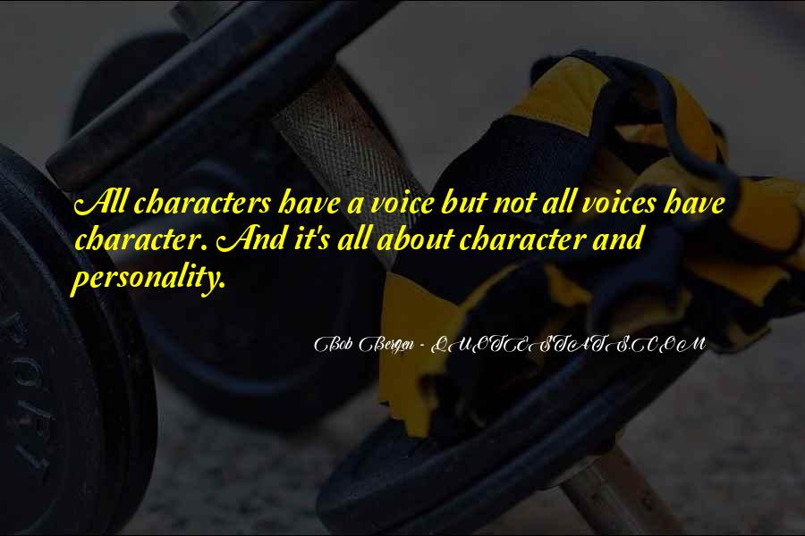 Quotes About Personality And Character #1182854