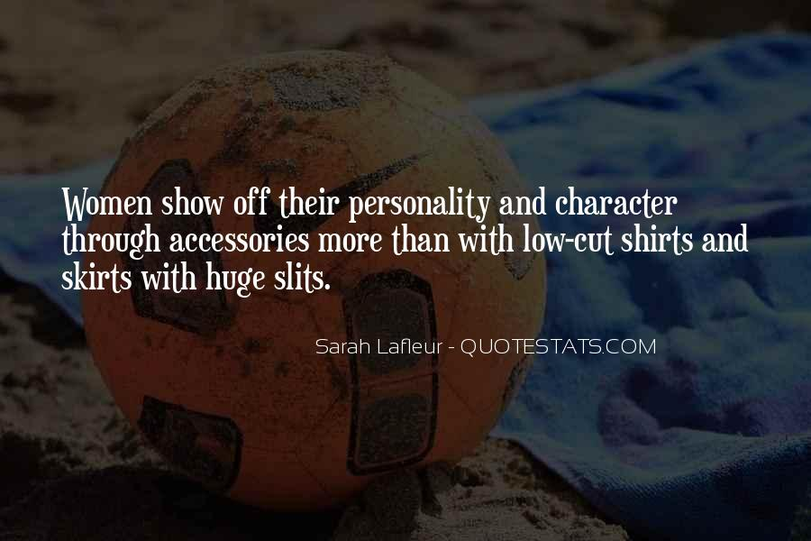 Quotes About Personality And Character #155305