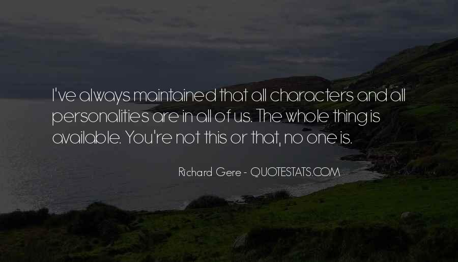 Quotes About Personality And Character #313867