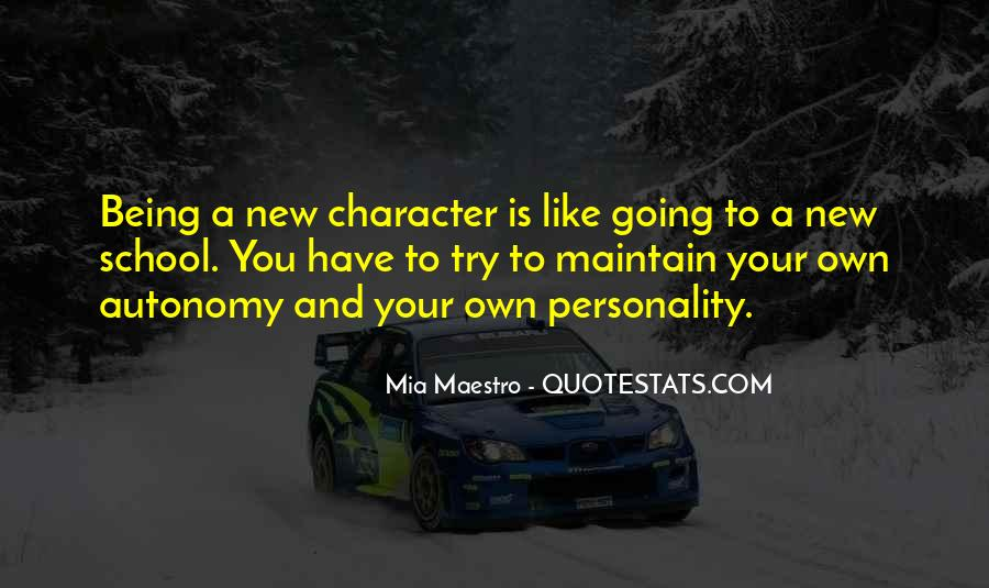 Quotes About Personality And Character #864476