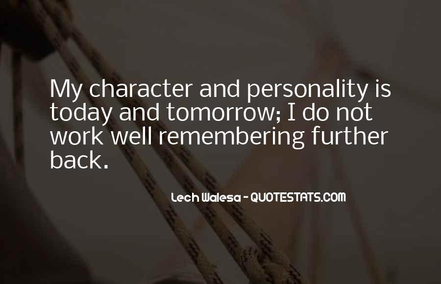 Quotes About Personality And Character #968067