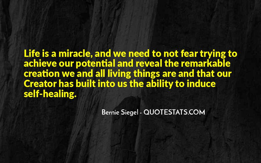 Quotes About Miracle Healing #335339