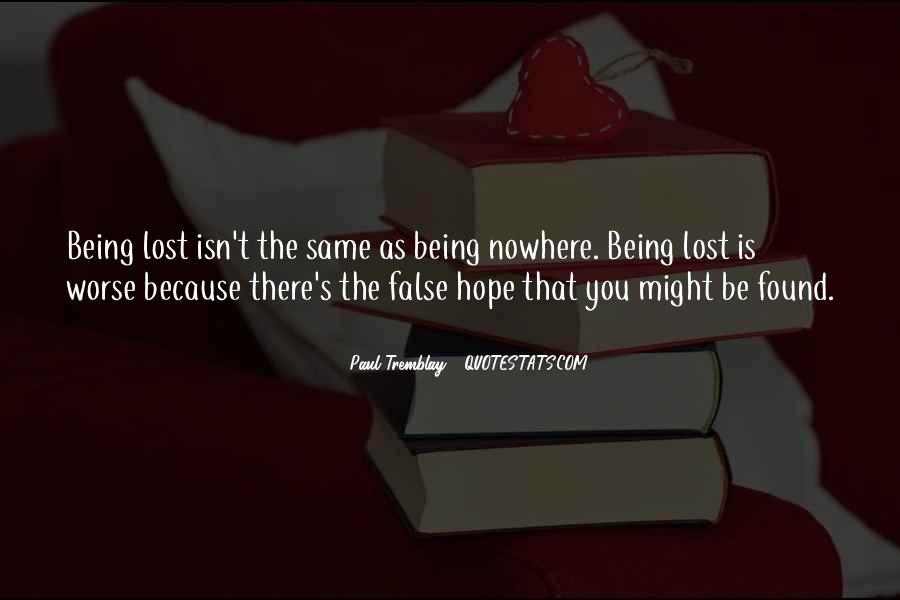 Quotes About Being Lost #295915