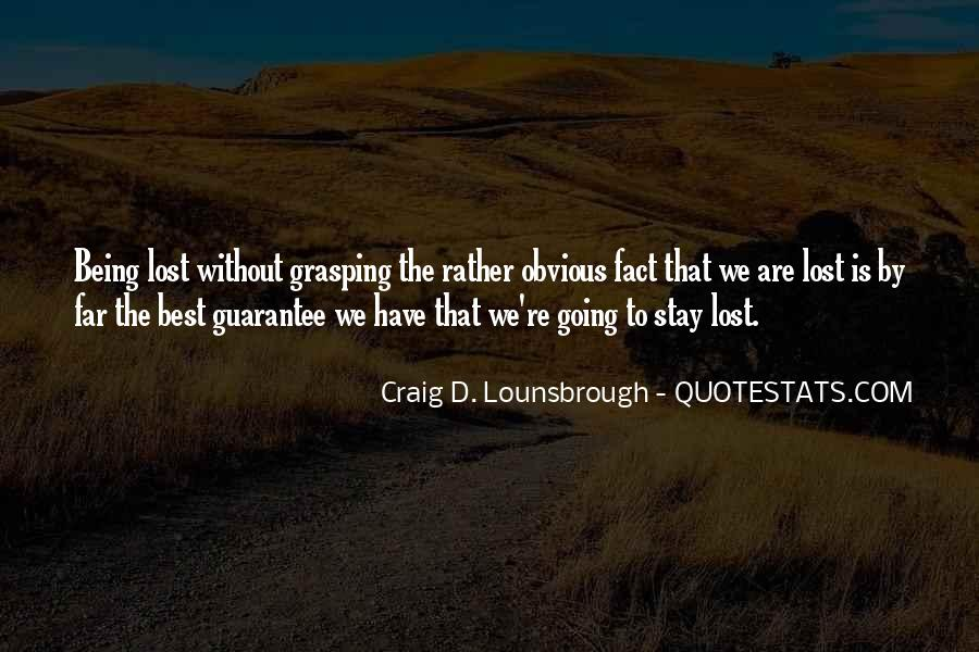 Quotes About Being Lost #3989