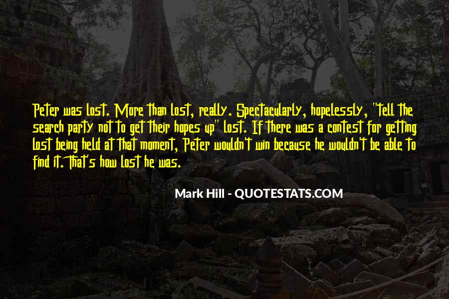 Quotes About Being Lost #6088