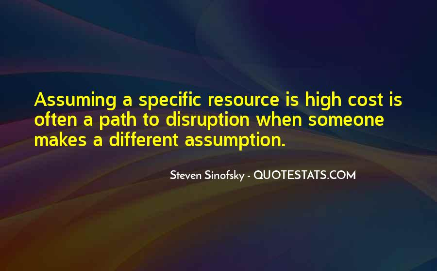 Quotes About Assuming #139165