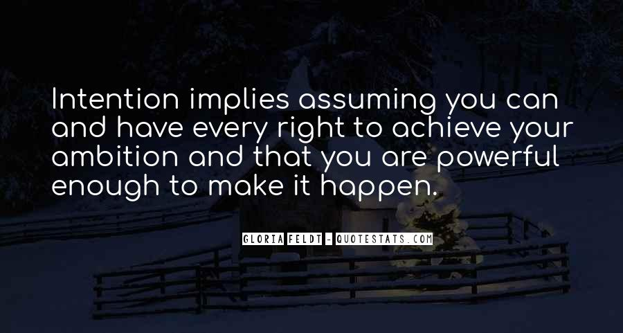 Quotes About Assuming #188464