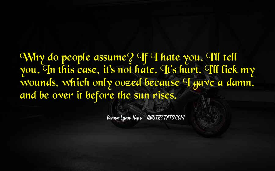 Quotes About Assuming #21345
