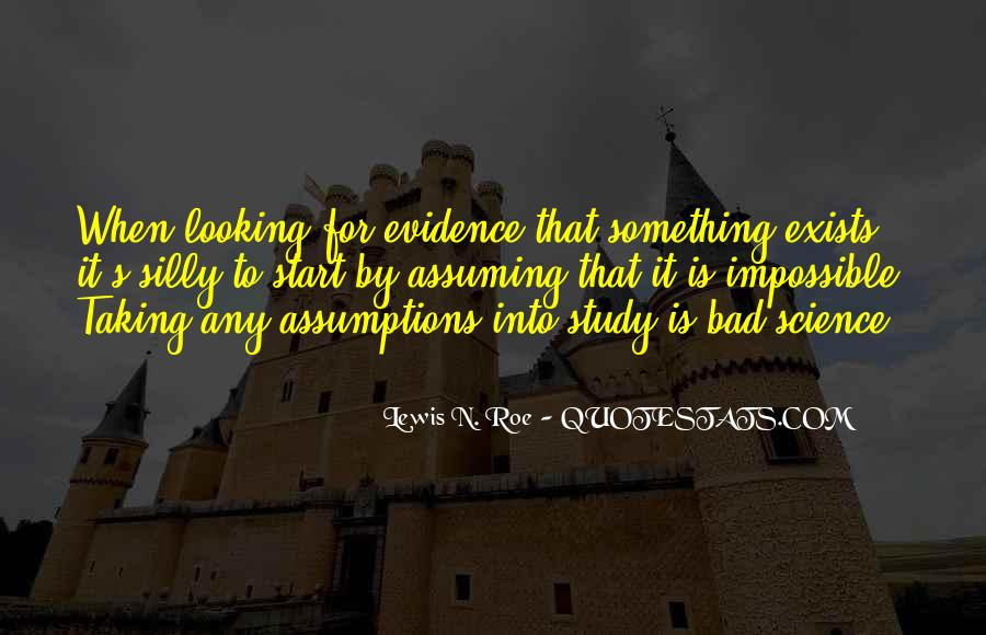 Quotes About Assuming #21979