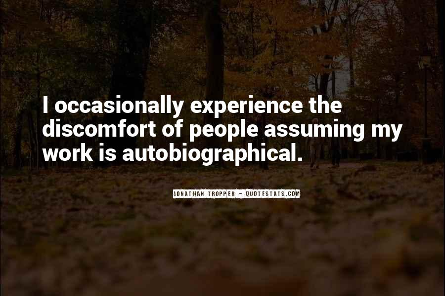 Quotes About Assuming #245454