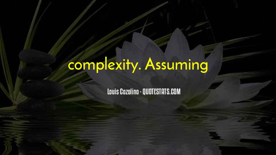 Quotes About Assuming #278129