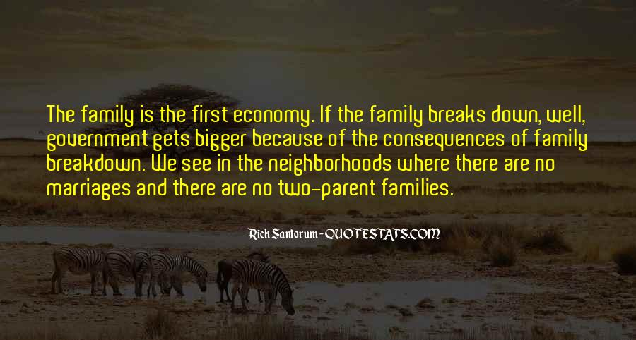 Quotes About Family Breakdown #62083