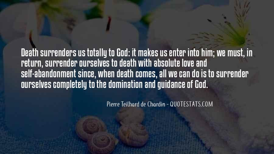 Quotes About Surrender To God #174553