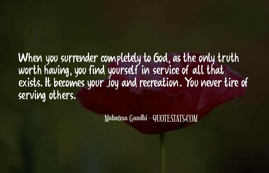 Quotes About Surrender To God #253855