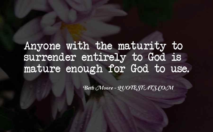 Quotes About Surrender To God #270547