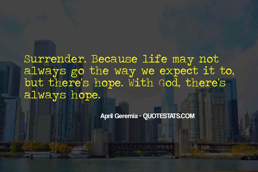 Quotes About Surrender To God #396970