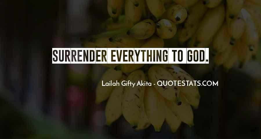 Quotes About Surrender To God #426599