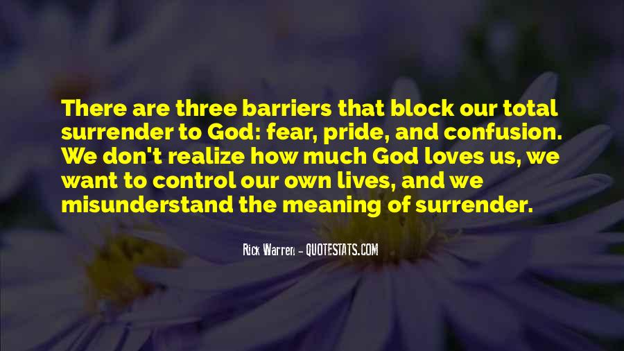 Quotes About Surrender To God #430732