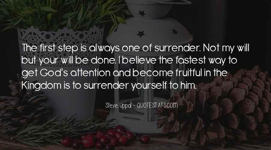 Quotes About Surrender To God #483865