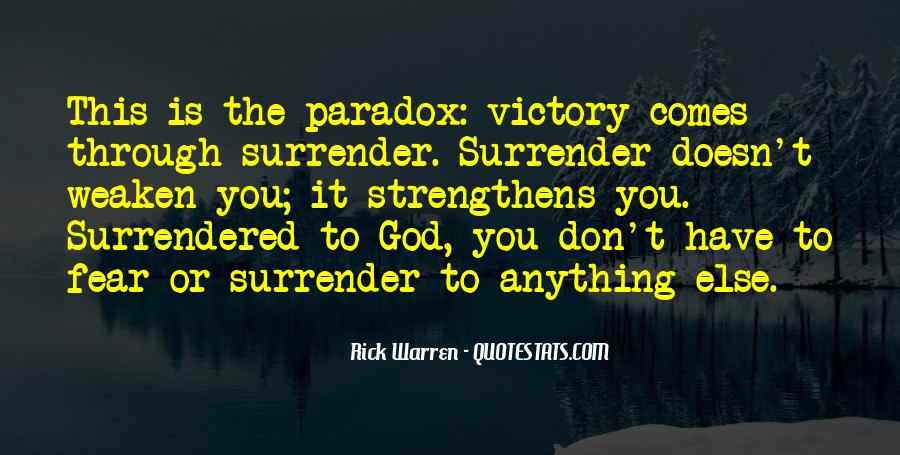 Quotes About Surrender To God #530310