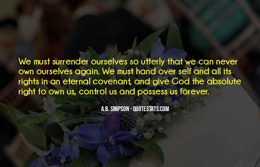 Quotes About Surrender To God #576866
