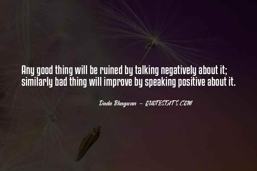 Quotes About Speaking Negatively #1426229