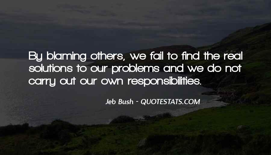 Quotes About Not Blaming Others #909976