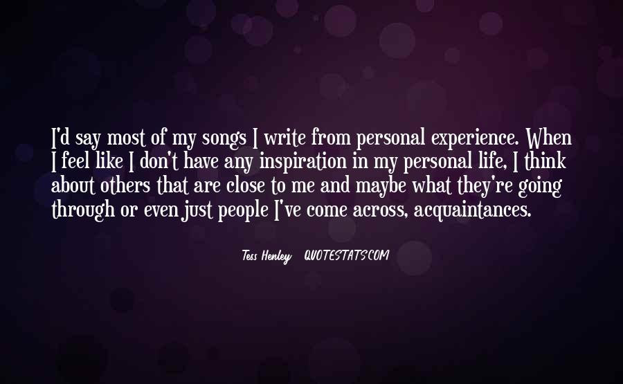 Quotes About What Others Think Of Me #285169