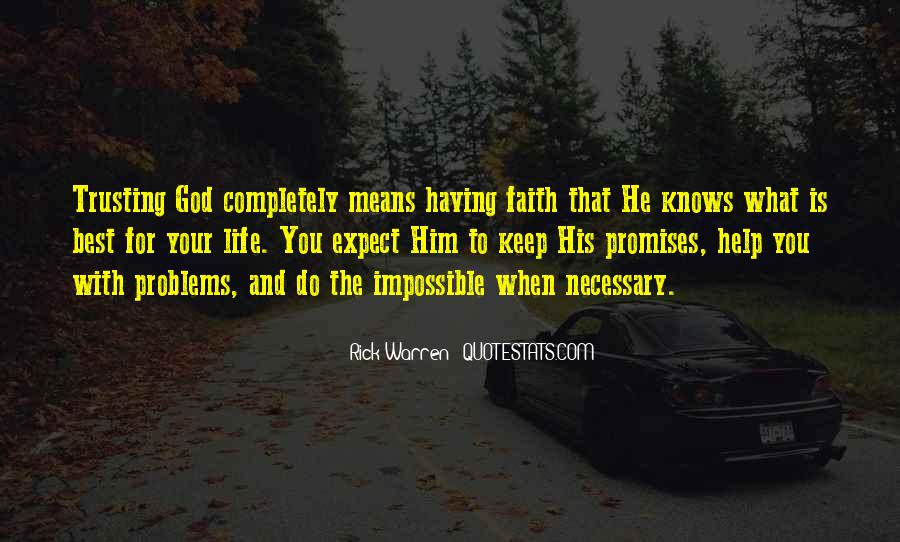 Quotes About God Knows Best #1147644