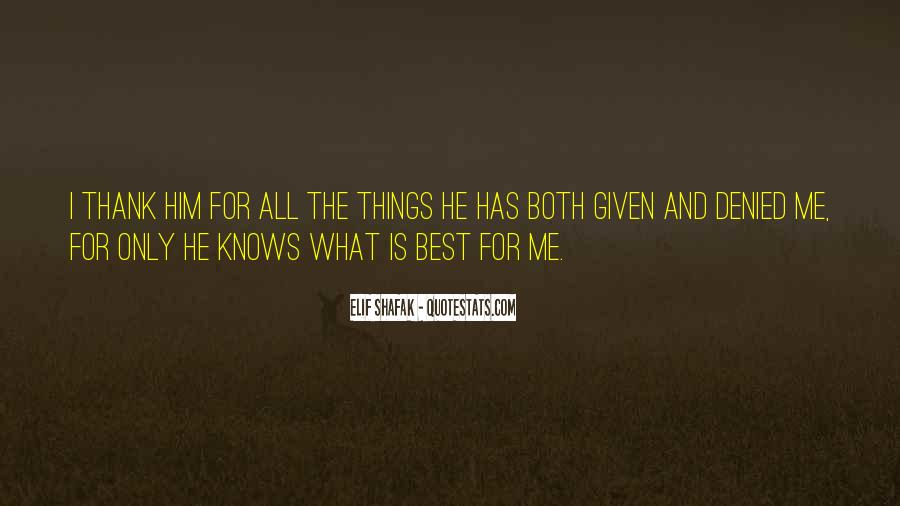Quotes About God Knows Best #128188