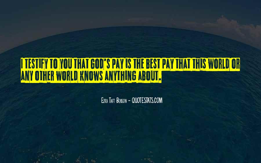 Quotes About God Knows Best #1475806