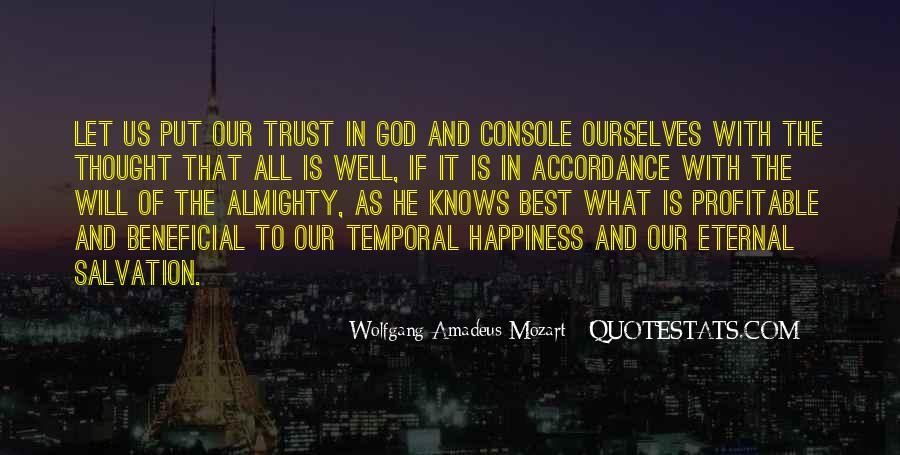 Quotes About God Knows Best #1682752