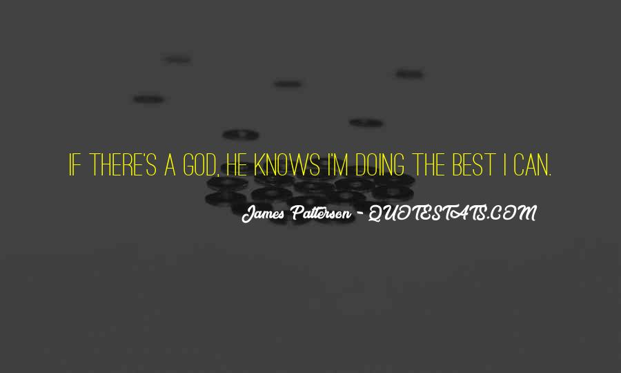 Quotes About God Knows Best #230128