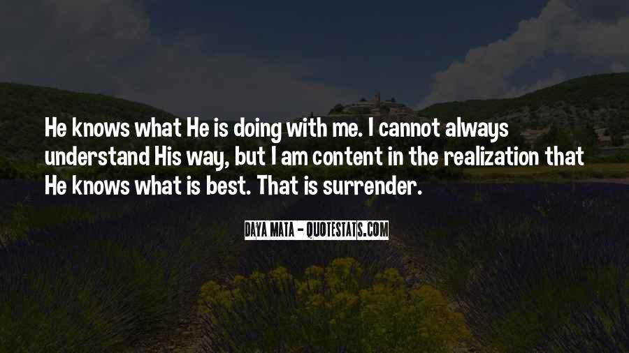 Quotes About God Knows Best #470265