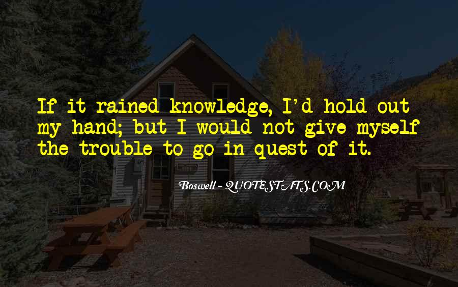Quotes About Quest For Knowledge #1062253