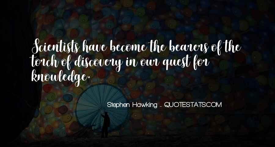 Quotes About Quest For Knowledge #1566246