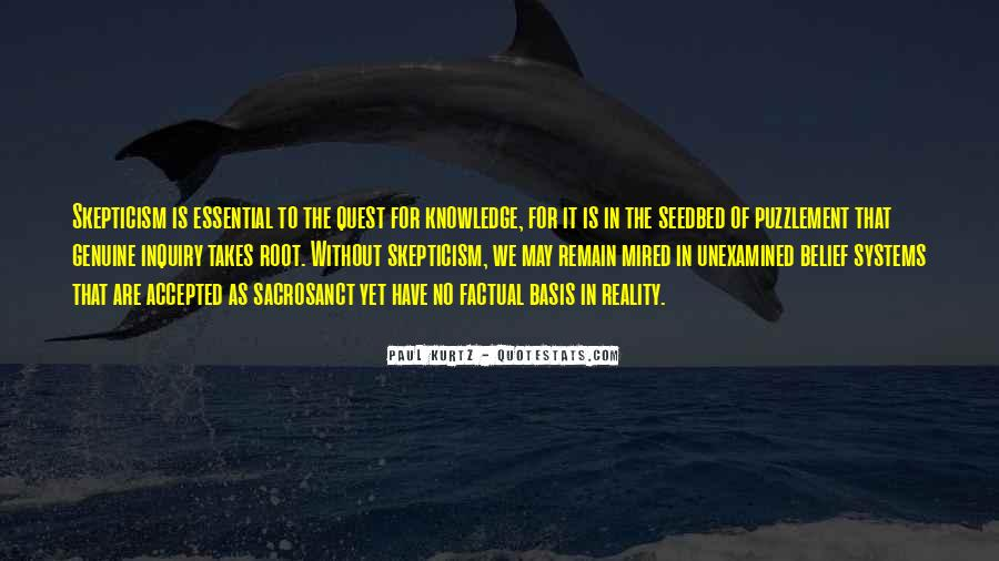 Quotes About Quest For Knowledge #322999